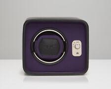 Wolf Windsor Single Watch Winder Black Purple Box Case 452403