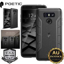 LG G6 TPU Case Genuine Poetic Karbon Series Rugged Shockproof Cover Black