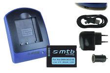 Chargeur+Batterie (USB) DMW-BCG10E pour Panasonic Lumix DMC-ZS8, ZS9, ZS10