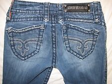 Rock Revival AMY Boot 25 Actual Size 27 in. Tight X 31 Distressed Women's Jeans