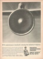 1965 Original Advertising' Vintage Pia Pakistan International Airlines Engine