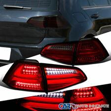 For 15-17 VW Golf GTI MK7 Red/Smoke Full LED Tail Lights Parking Brake Lamps