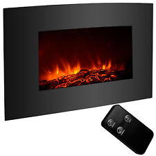"""Large 35""""x22"""" Electric Fireplace Insert Heater Wall Mount Heater Remote Control"""