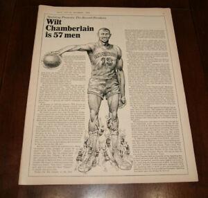 1964 Print Sales Ad Advertisement Art Poster Wilt Chamberlain is 57 Men 10x13