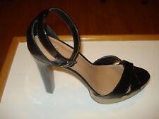 Mossimo Black 'Petra' Heeled Jute Rope Platform Sandals Size 9