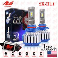 2x H8 H9 H11 70W 7200LM LED Headlight Bulb Conversion Kit 6000K High Low Beam US