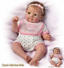 "Ashton Drake ""DADDY'S LITTLE GIRL""- LIFELIKE  BABY GIRL DOLL - NEW-IN STOCK NOW!"