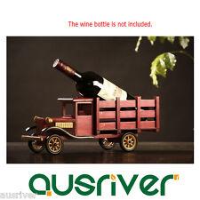 Retro Wood Truck Lorry Wine Glass Gadget Bottle Rack Holder Home Decor Xmas Gift