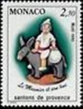 """MONACO STAMP 1743 """" NOEL SANTONS PROVENCE , LE MEUNIER ET SON ANE """" NEUF xx TTB"""