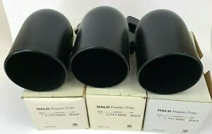 3 Pack Halo power Track COOPER Lighting L-746-mbx with Black Baffle NOS WEAR