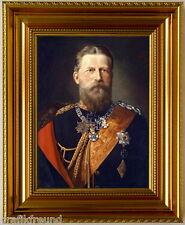 Kaiser Friedrich III, Kunstdruck n. Pfüller, edel gerahmt