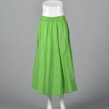 Medium to Xxl 1990s Silk Skirt Green Vintage 90s Fairy Full Summer Long Maxi
