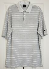 Nike Golf Dri Fit Polo Shirt White With Black Stripes Size Large