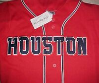 Houston Cougars Football U of H AAC NCAA Red YOUTH Baseball Jersey M New NWT