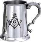 One Pint Masonic Hand Made English Pewter Tankard (ts335)