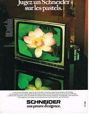 PUBLICITE ADVERTISING 045  1971  SCHNEIDER   téléviseur