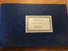 Vintage Ledger 1960s Transport Service Mileage Record Book Ledger Stage Prop