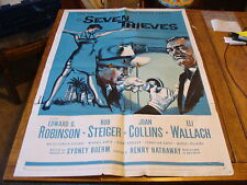 Vintage Movie Poster 1 sheet: 1959 SEVEN THIEVES Edward G Robinsons Joan Collins