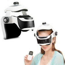 Wireless Eye Head Massager Helmet Infrared Heat Compression Soothing Music Relax