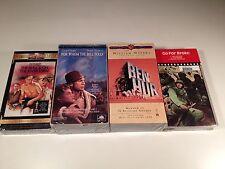 Classic War Drama Lot of 4 Sealed VHS Ben Hur Bridge On River Kwai Go For Broke