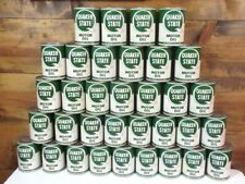 VINTAGE 1965 1 QUART (FULL) QUAKER STATE MOTOR OIL CAN METAL GREAT GRAPHICS A
