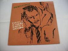 PAOLO CONTE - PAROLE D'AMORE SCRITTE A MACCHINA - LP 1990 EXCELLENT - HUGO PRATT
