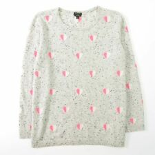 Talbots Pure Cashmere Sweater Hearts Womens Size X 0X