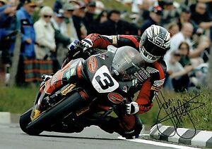 John McGuinness - 2007 Isle of Man TT Autographed 16 x 12 Picture.