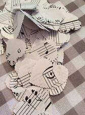100 hoja de estilo vintage Nota Musical Decoraciones de Boda Confeti de papel
