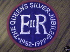 THE QUEENS SILVER JUBILEE 1952-1977,COLLECTABLE PATCH