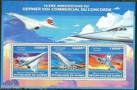 GUINEA 2013 10th ANNIVERSARY OF THE LAST CONCORDE FLIGHT  SHEET MINT NH
