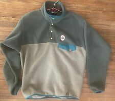 Patagonia ReCrafted Synchilla Mens Green/Tan Size M
