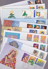 Australia 2000-05 FDC 10 Covers Christmas Nativity Paintings Trees Greetings