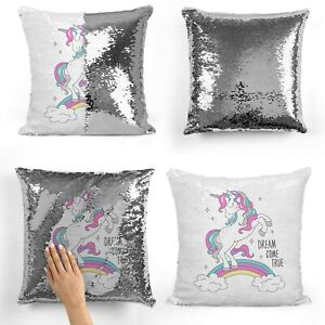 PERSONALISED SEQUINED CUSHION COVER IDEAL GIFT FOR ANY OCCASION,TEXT OR LOGO