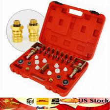12Pcs Universal A/C Flush Fitting Adapter Kit / Leak Testing Sets for Car Truck