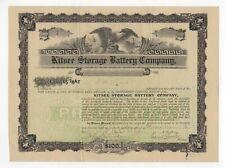 Kitsee Storage Battery Company stock certificate