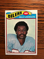 1977 Topps #59 Billy Johnson Football Card Houston Oilers Raw