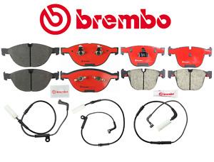 Front Brake Pads Rear Brake Pads Set Ceramic OEM Brembo + Sensor BMW E60 M5 M6