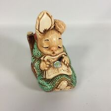 Woodlander Pendelfin Rabbit Figurine Mereside England Stoneware Grandad Vtg