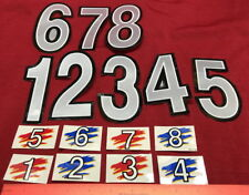 Genuine Sega Out Runners Arcade Video Replacement Number Decals Stickers NOS E37