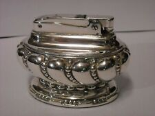 """Ronson Table Lighter Type """"CROWN"""" Silver Plated N.J. U.S.A."""
