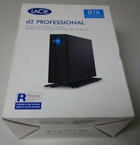 LaCie 8TB d2 Professional USB 3.1 Type-C External Hard Drive, 7200 RPM, 240MB/s