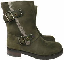 UGG Australia NIELS WATER RESISTANT Zipper Boots LEATHER Buckles Sz 8