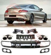 Für Mercedes-Benz C-Klasse C205 Coupe Cabrio C43 AMG Diffusor Stoßstange CP257