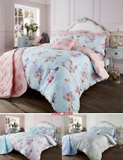 Love Bird Vintage Style Duvet / Quilt Covers Reversible Bedding Sets All Sizes