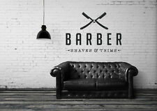 Vinyl Wall Decal Sticker Bedroom Barber shop COMPANY NAME hair scissors r1519