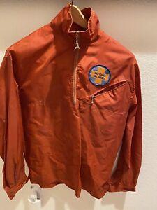 Vintage National Ski Patrol Red Nylon Windbreaker Jacket White Stag