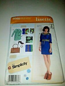 Lisette Itinerary Dress SIMPLICITY sewing pattern  #2060 uncut 6- 8- 10-12- 14