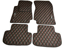Leather Car Floor Mats Luxury Bespoke Fully Tailored Fit Chevrolet Camaro 2010-