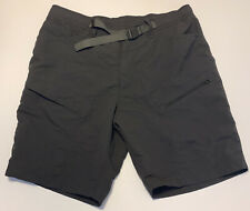"The North Face Belted Cargo Outdoor Hiking Shorts Grey Men Size XL EUC 10"" In"